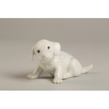 Фигура «Белый щенок»
